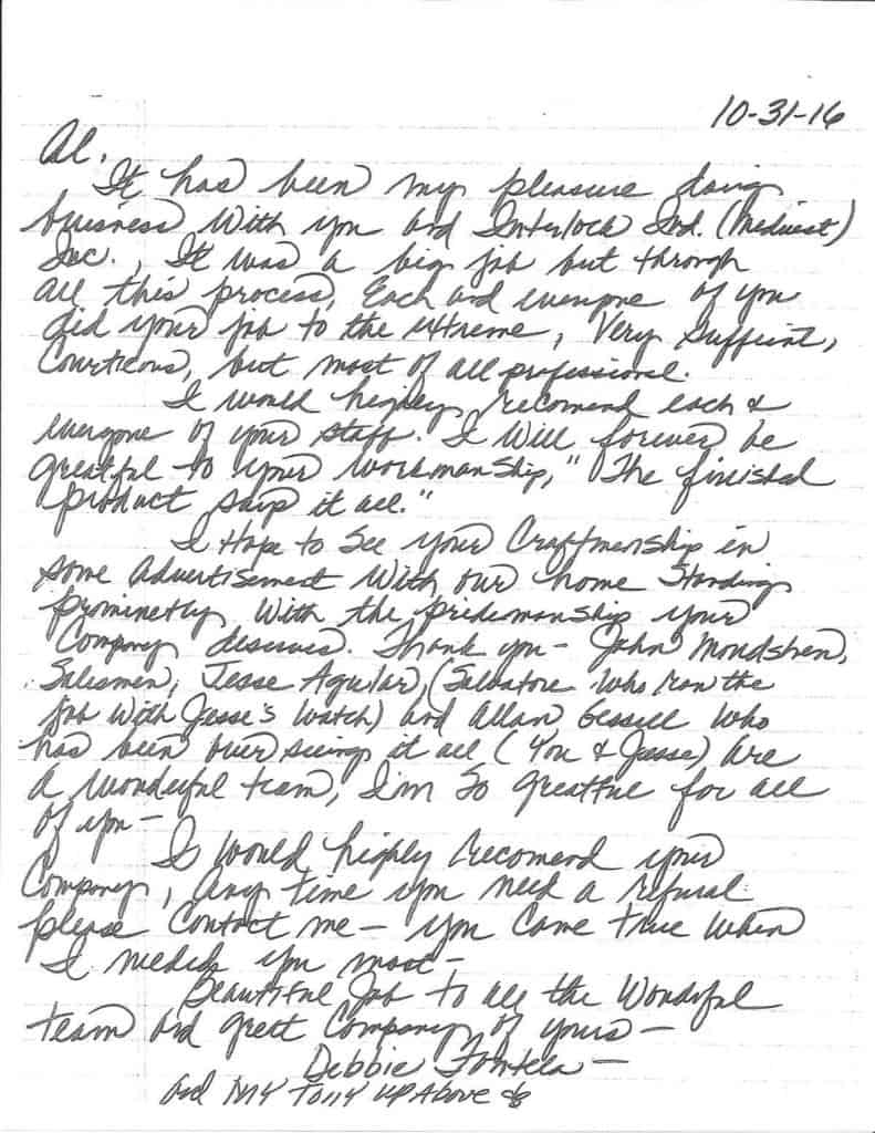 IL-16-001 Fontela Testimonial Letter