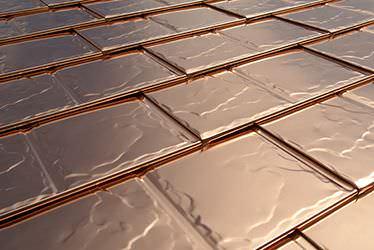 Interlock Solid Copper Metal Roofing
