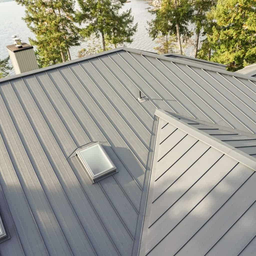 Interlock Standing Seam Roof Deep Charcoal Halfmoon Bay BC